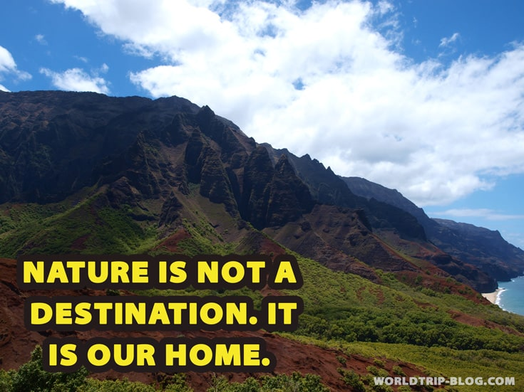 Natur is not a destination